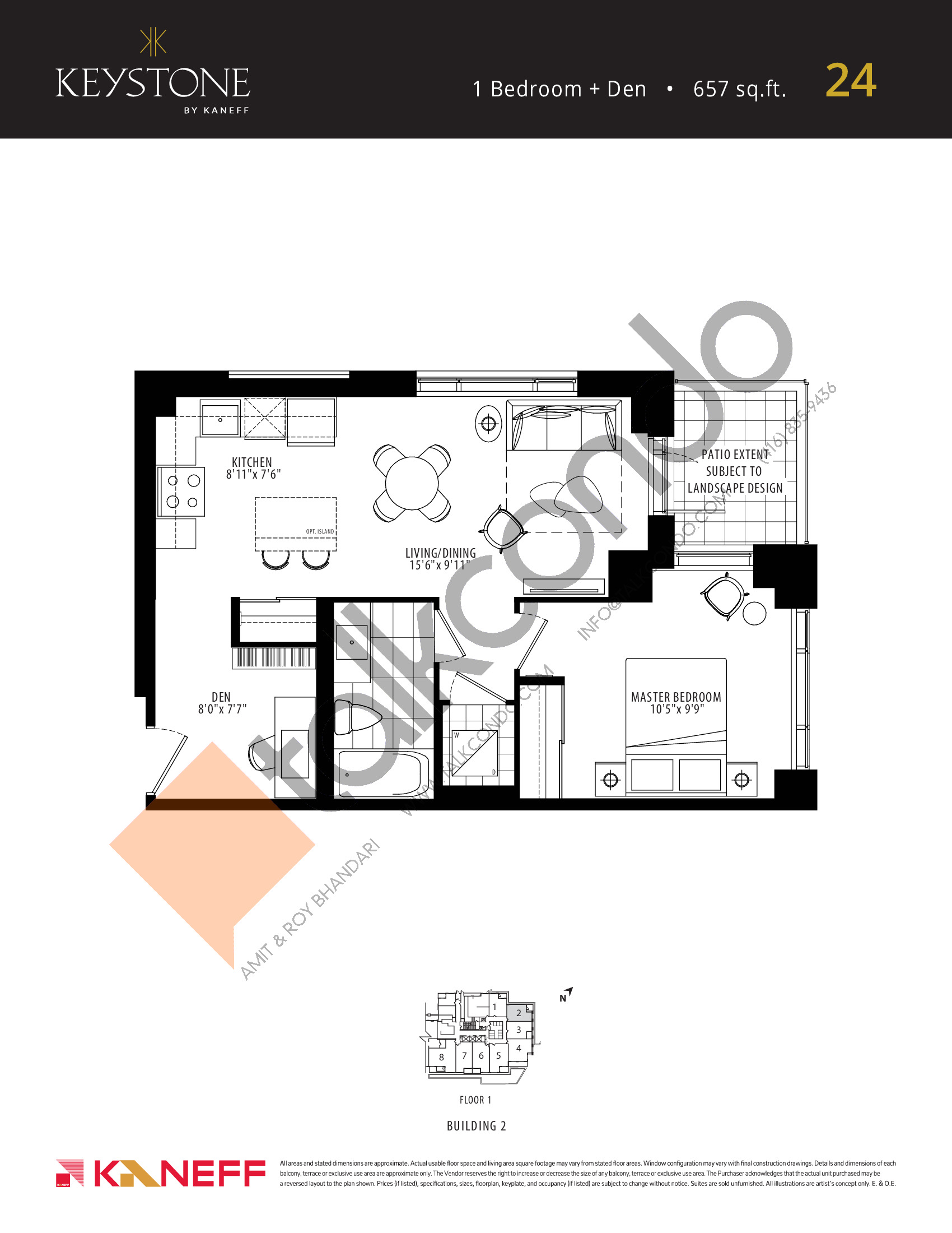 24 Floor Plan at Keystone Condos Phase 2 - 657 sq.ft