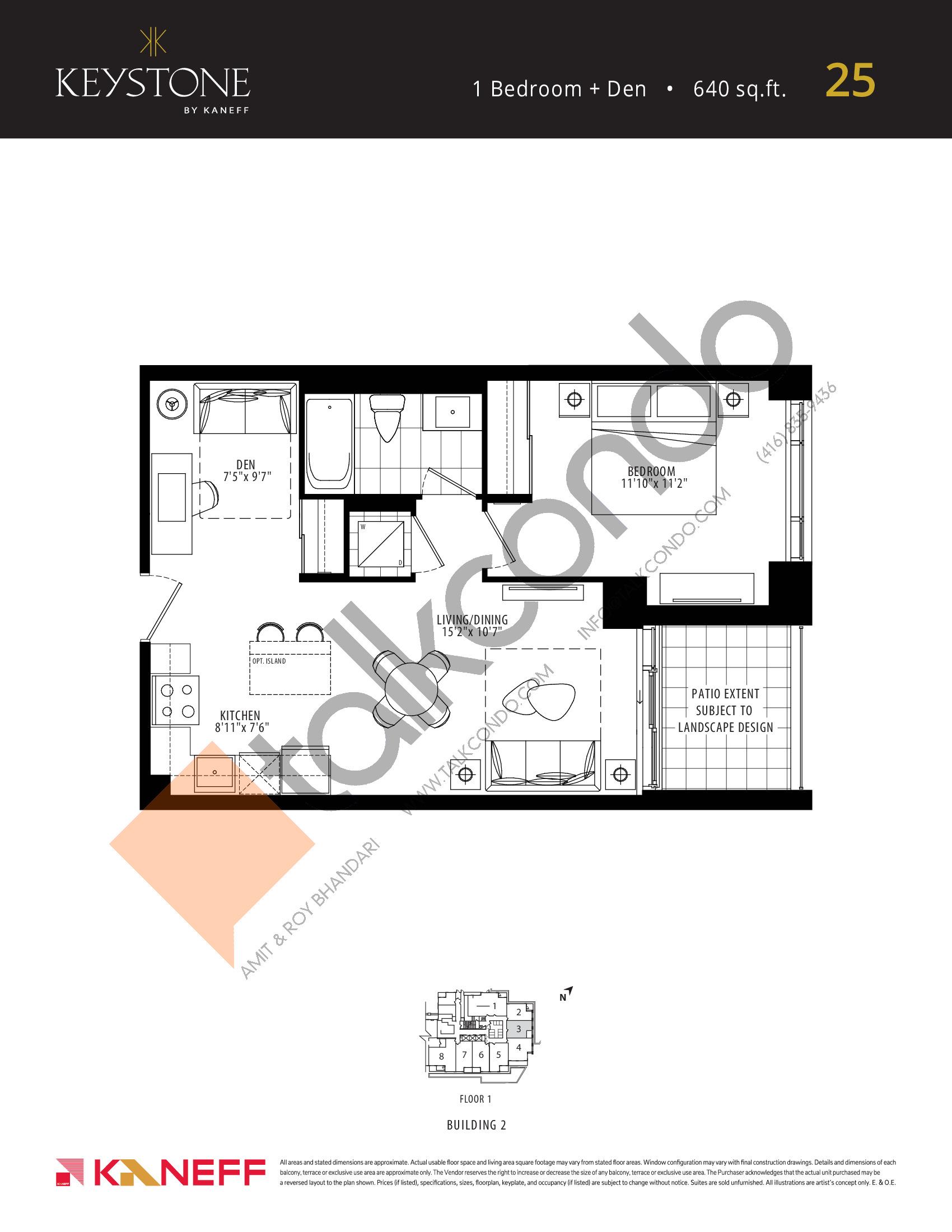 25 Floor Plan at Keystone Condos Phase 2 - 640 sq.ft