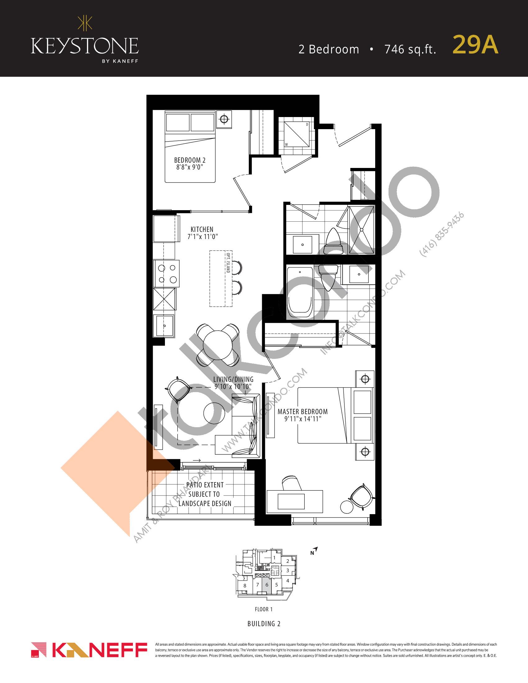 29A Floor Plan at Keystone Condos Phase 2 - 746 sq.ft