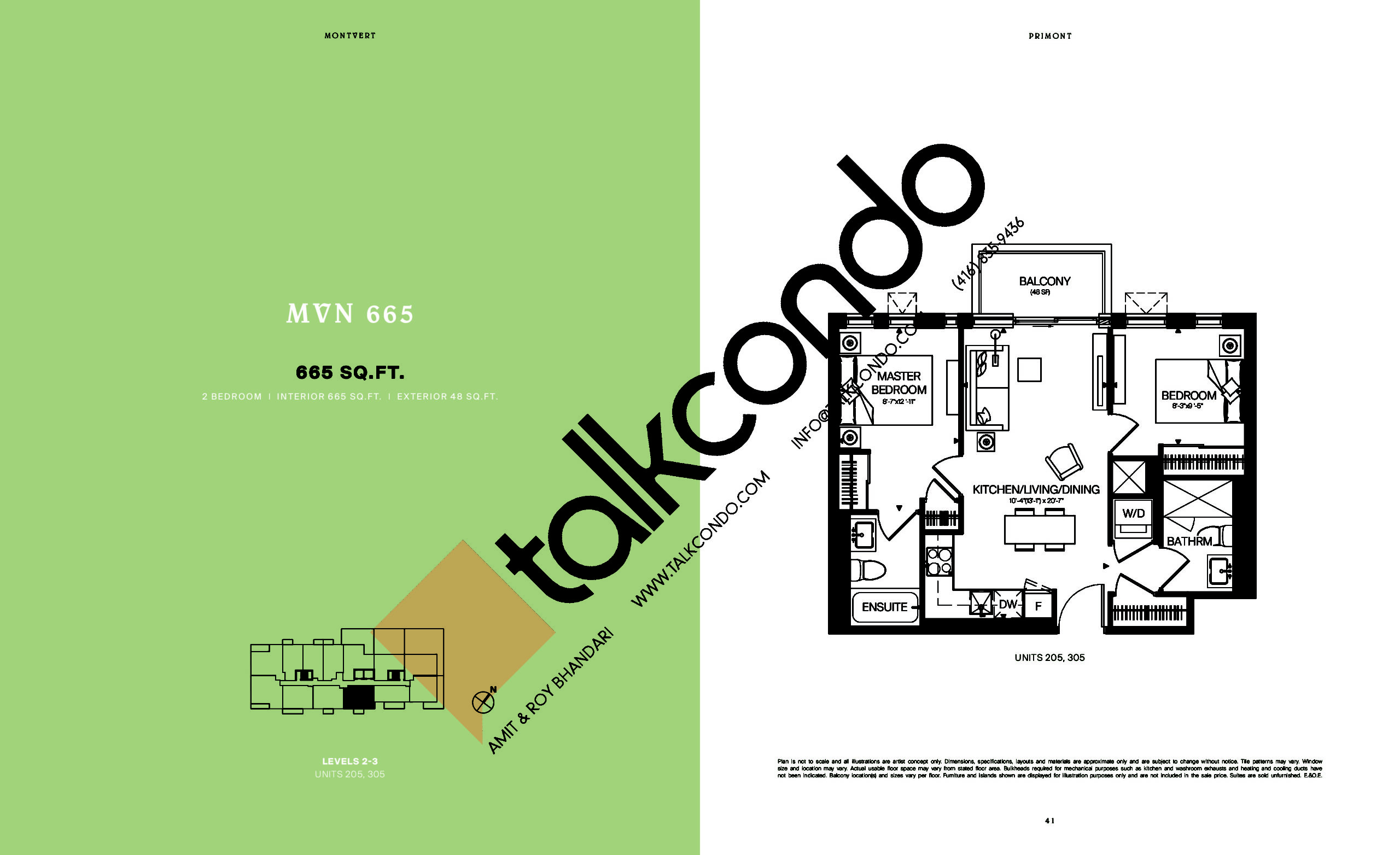 MVN 665 Floor Plan at MontVert Condos - 665 sq.ft