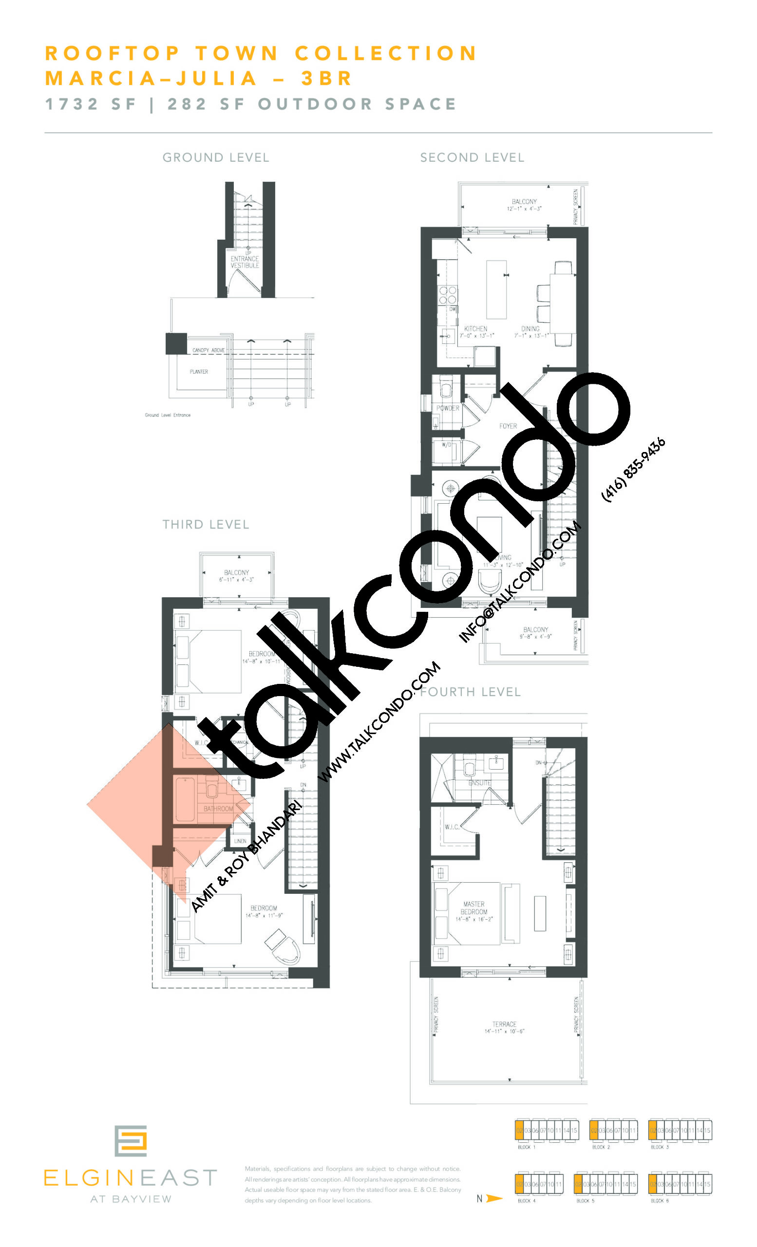 Marcia-Julia Floor Plan at NEXT - Elgin East Phase 2 Condos - 1732 sq.ft