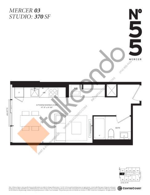 No. 55 Mercer Condos Condos Floor Plans