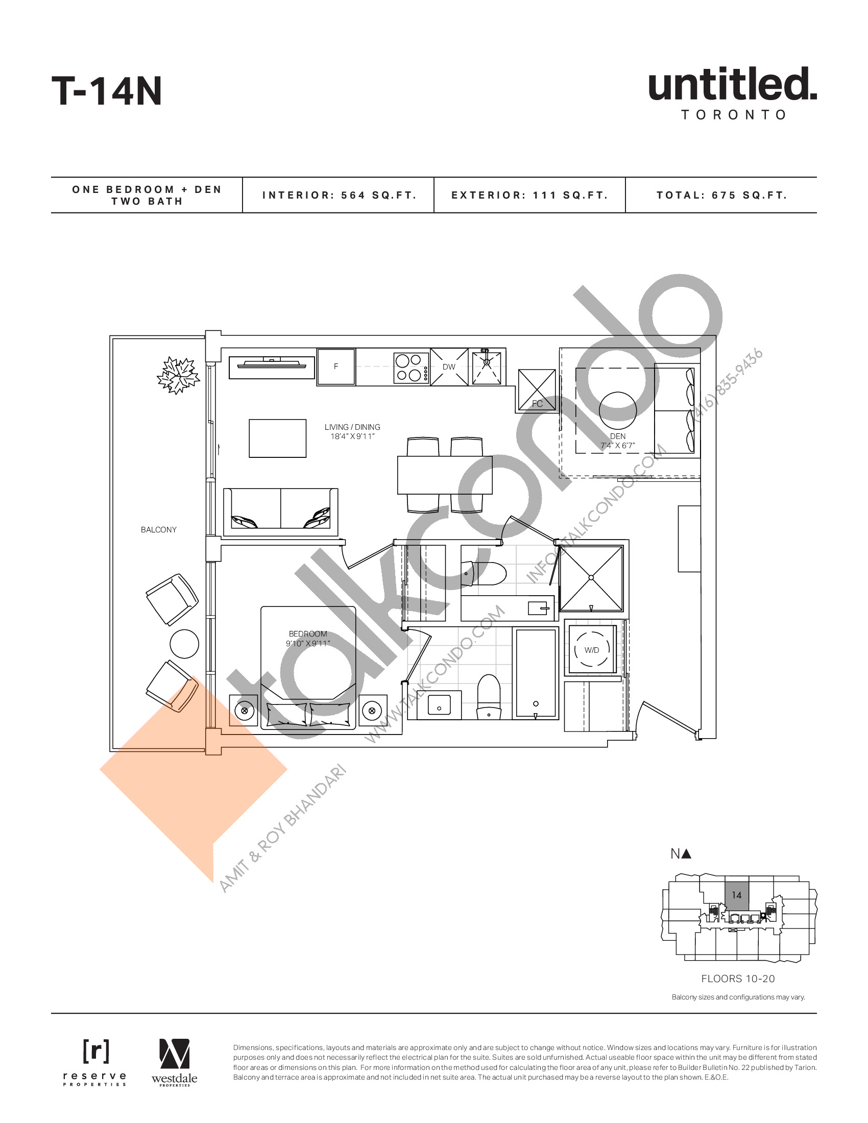 T-14N Floor Plan at Untitled North Tower Condos - 564 sq.ft