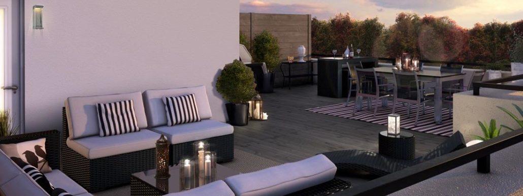 Minto Oakvillage Condos Outdoor Terrace