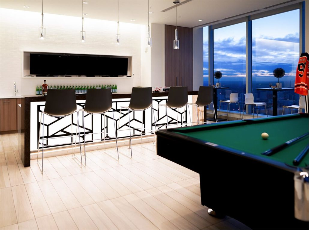 SKY Residences at ICE District Billiards Lounge