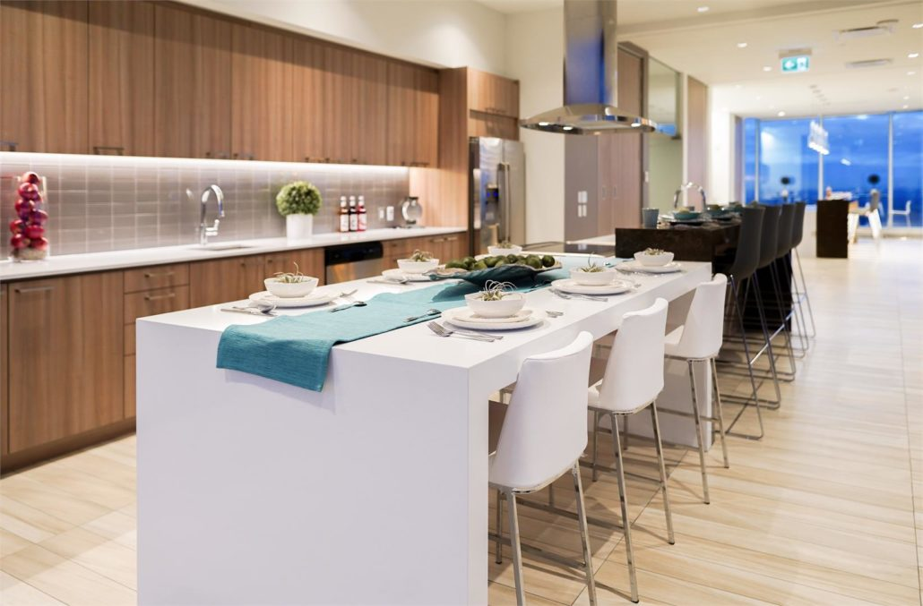 SKY Residences at ICE District Demonstration Kitchen