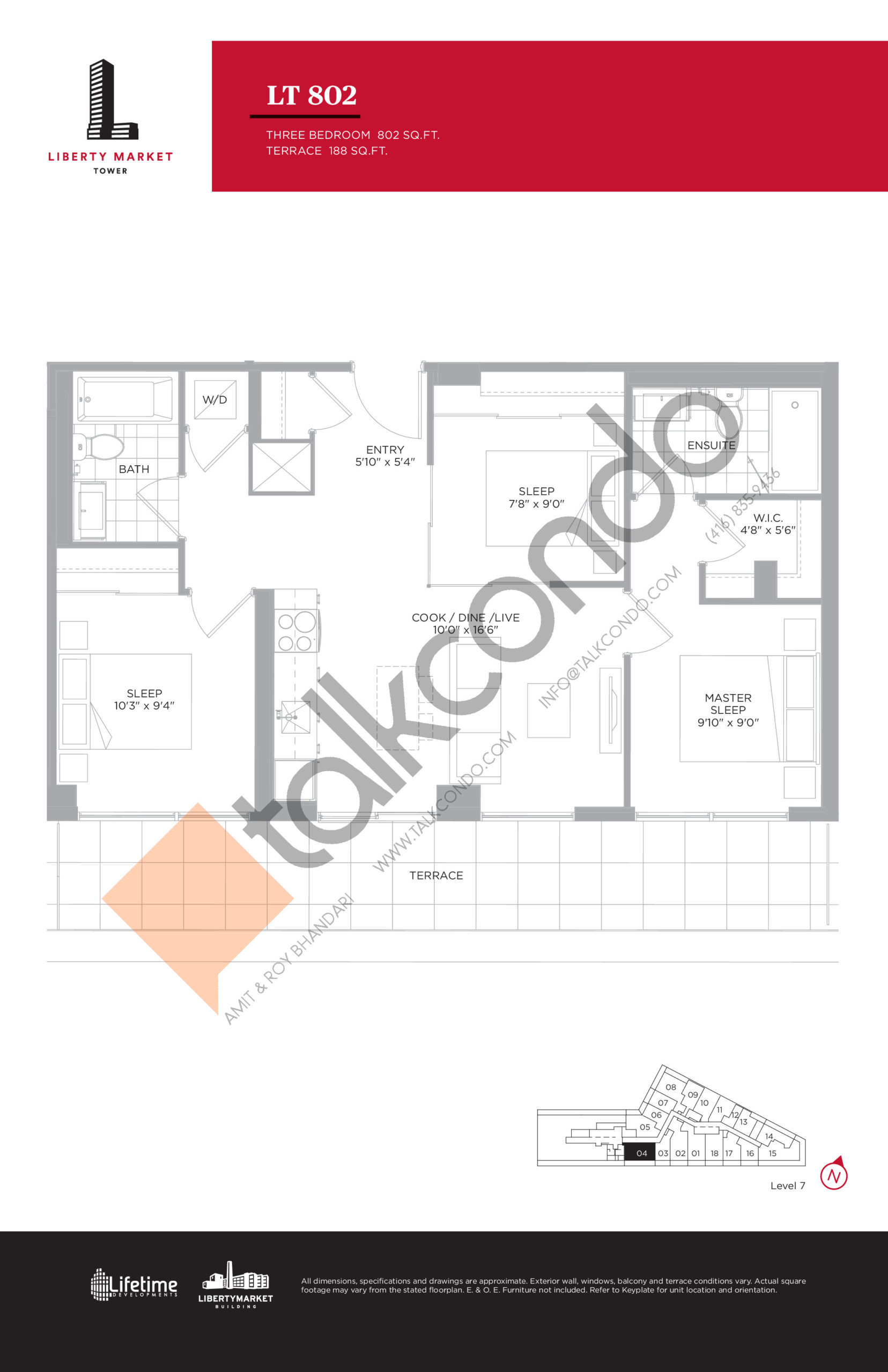 LT 802 - Terrace Collection Floor Plan at Liberty Market Tower Condos - 802 sq.ft