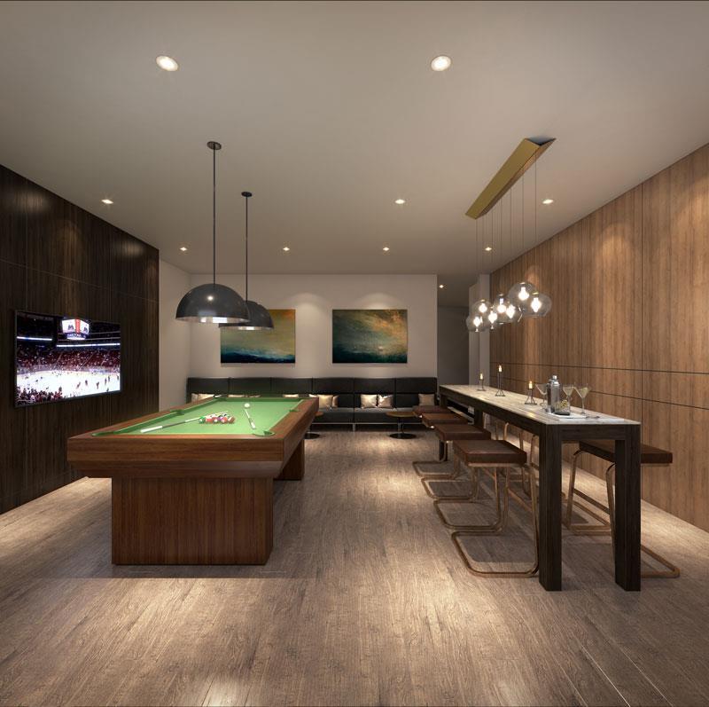 Tanu Condos Billiards Games Room
