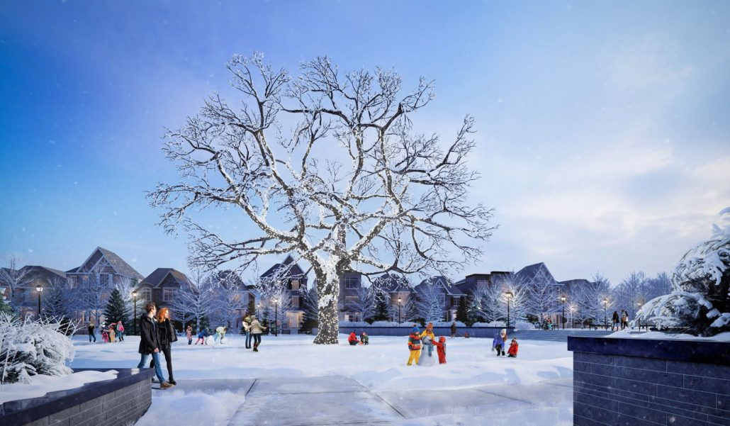 Union Village Winter Dusk