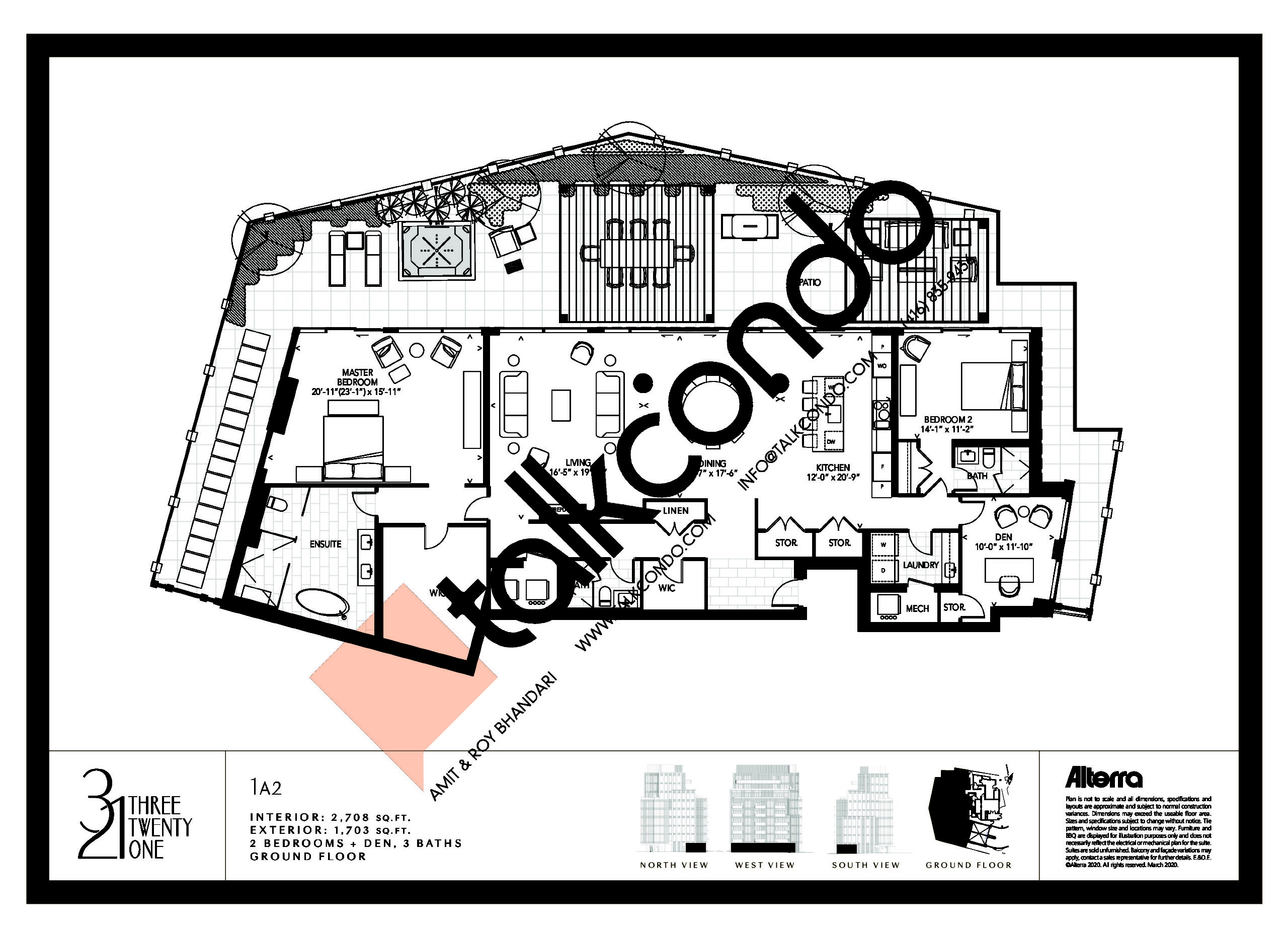 1A2 Floor Plan at 321 Davenport Condos - 2708 sq.ft