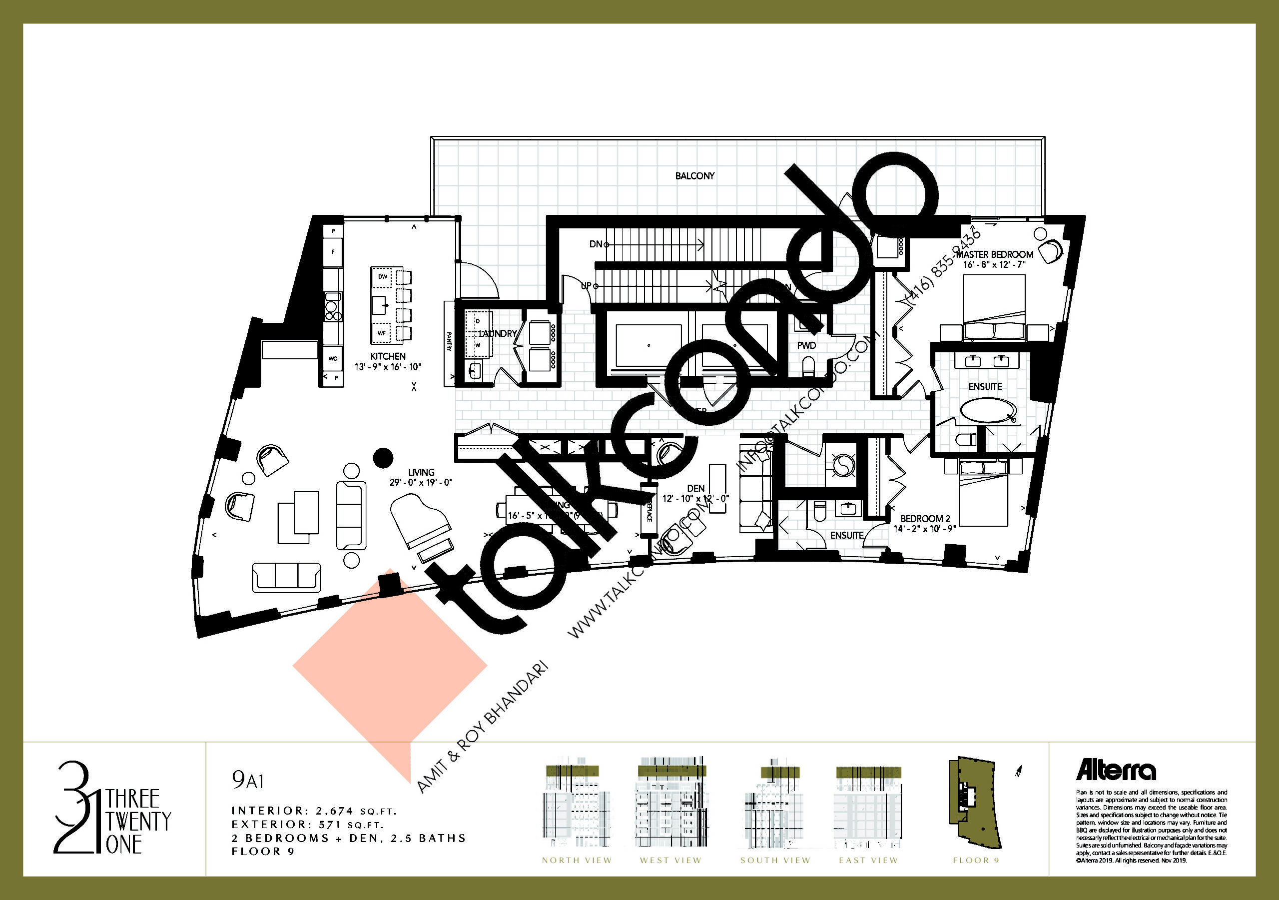 9A1 Floor Plan at 321 Davenport Condos - 2674 sq.ft