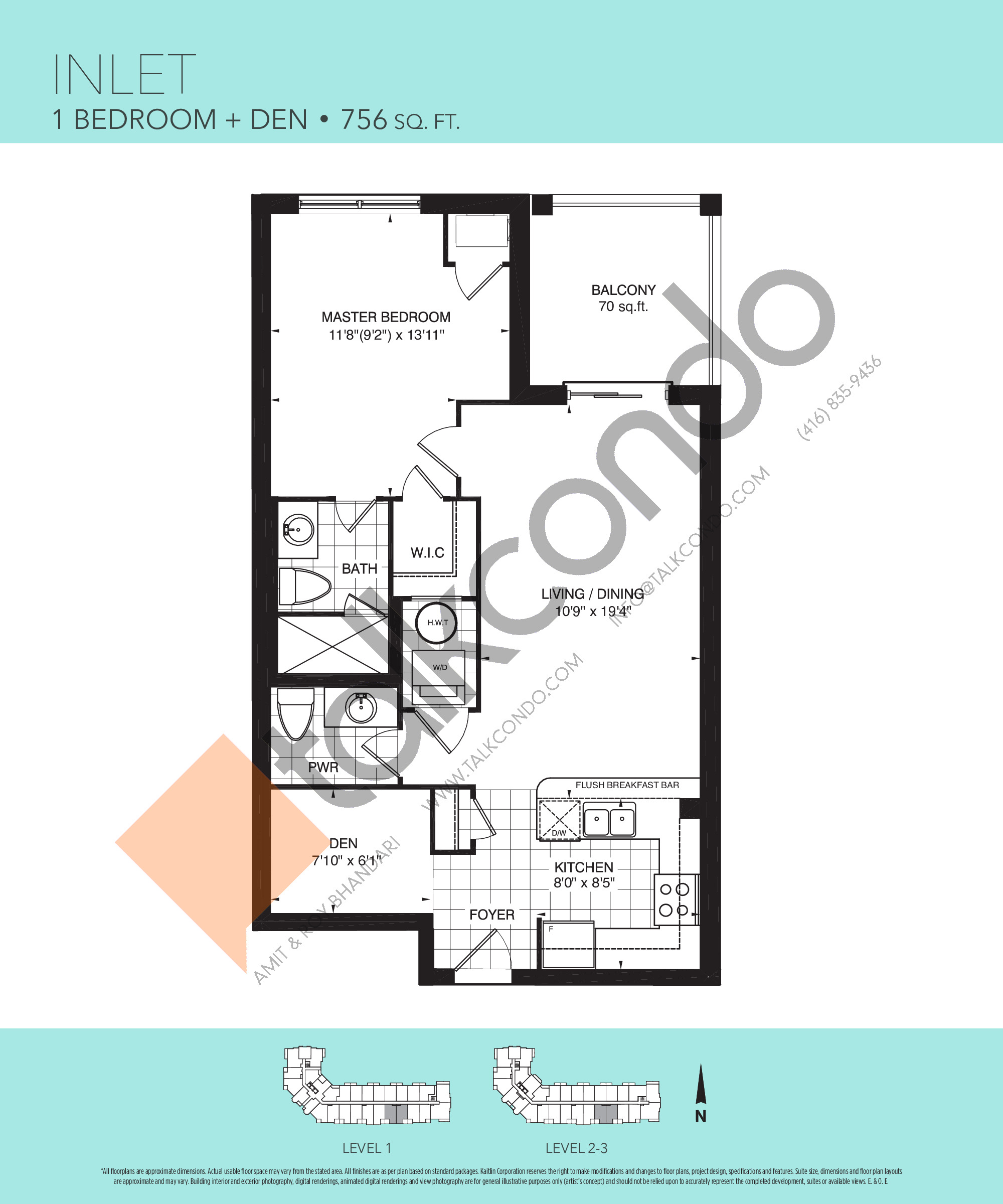 Inlet Floor Plan at Harbourview Grand Condos - 756 sq.ft