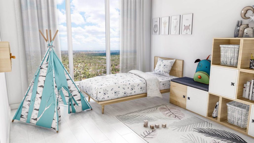 M2M Spaces Condos Kids Bedroom