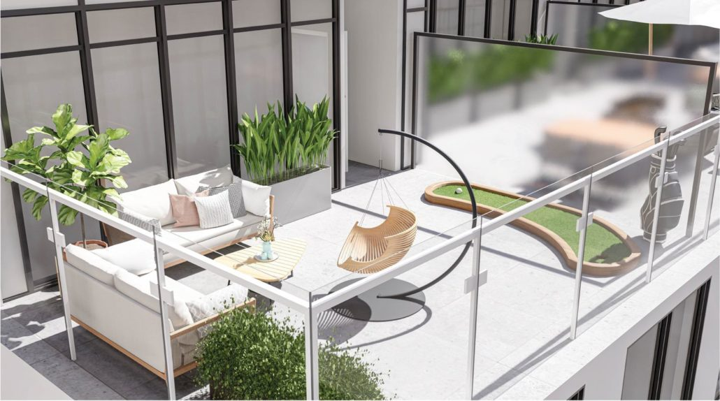 M2M Spaces Condos Rooftop Terrace