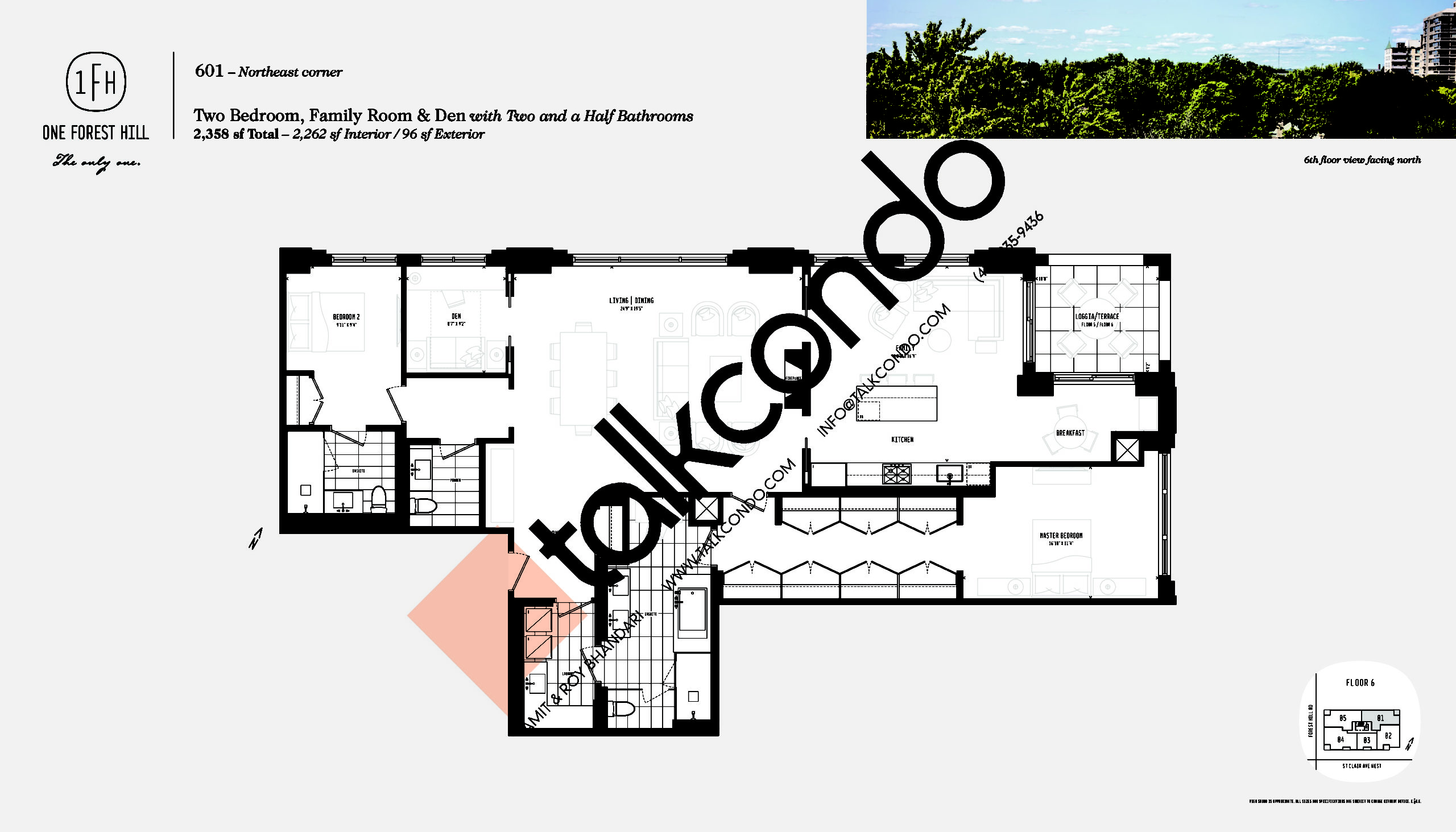 601 Floor Plan at One Forest Hill Condos - 2262 sq.ft