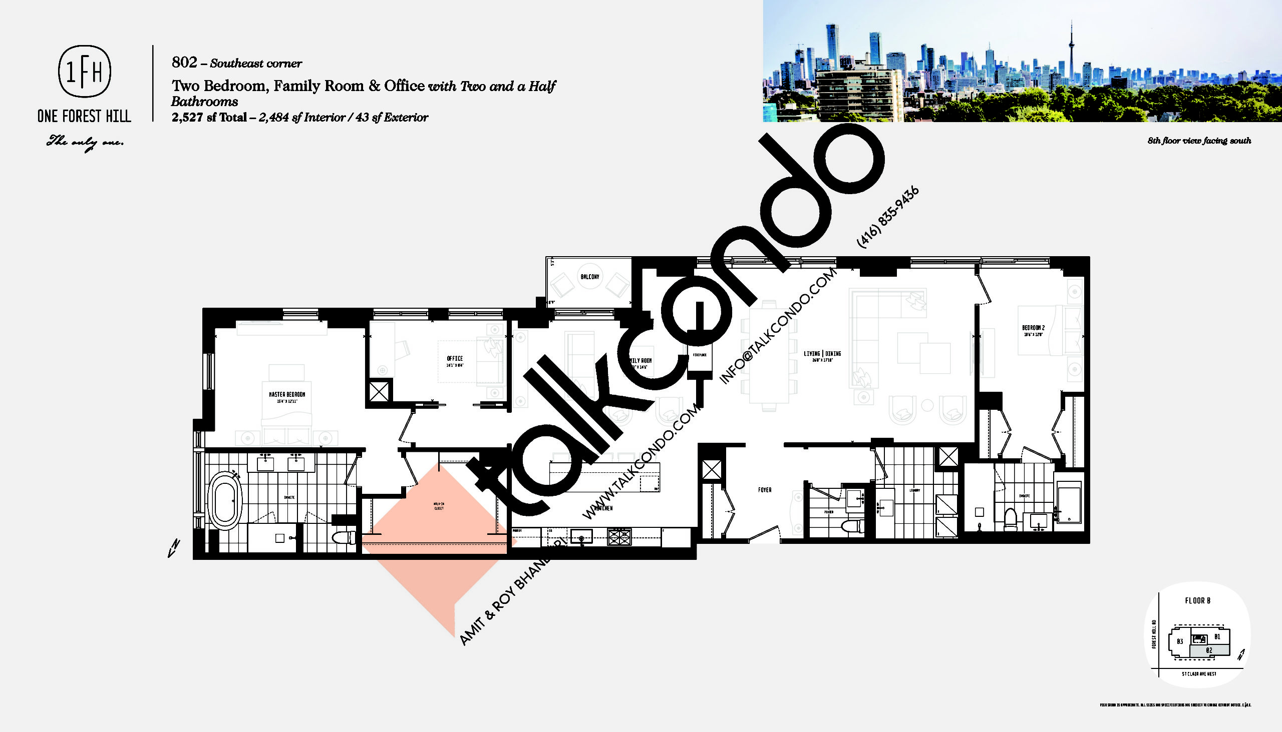 802 Floor Plan at One Forest Hill Condos - 2484 sq.ft