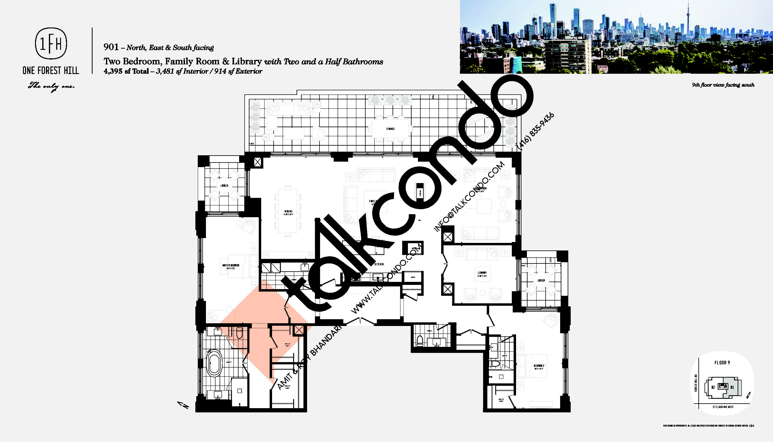 901 Floor Plan at One Forest Hill Condos - 3481 sq.ft