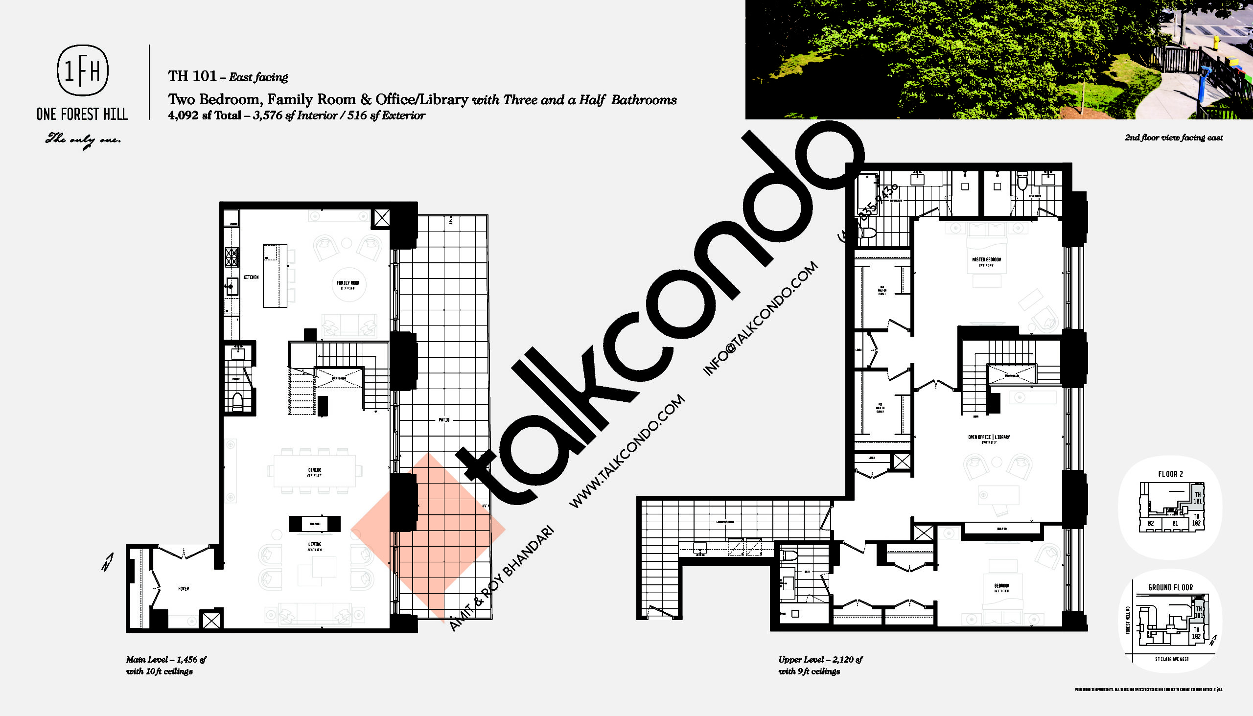 TH 101 Floor Plan at One Forest Hill Condos - 3576 sq.ft