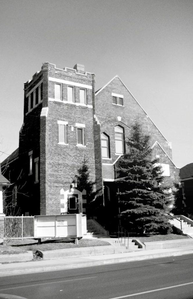 sanctuary lofts exterior of church