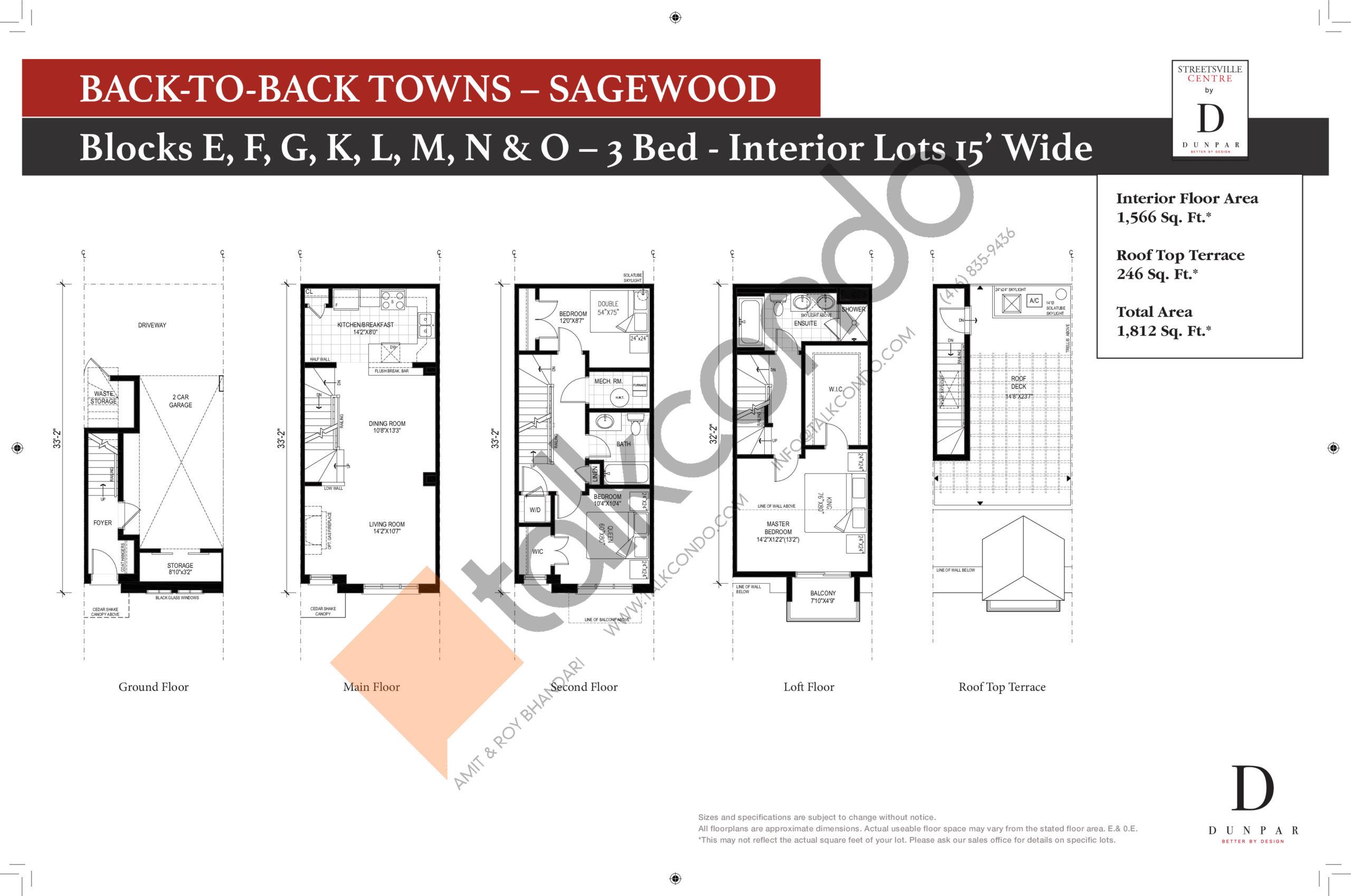 Sagewood Floor Plan at Streetsville Centre - 1566 sq.ft