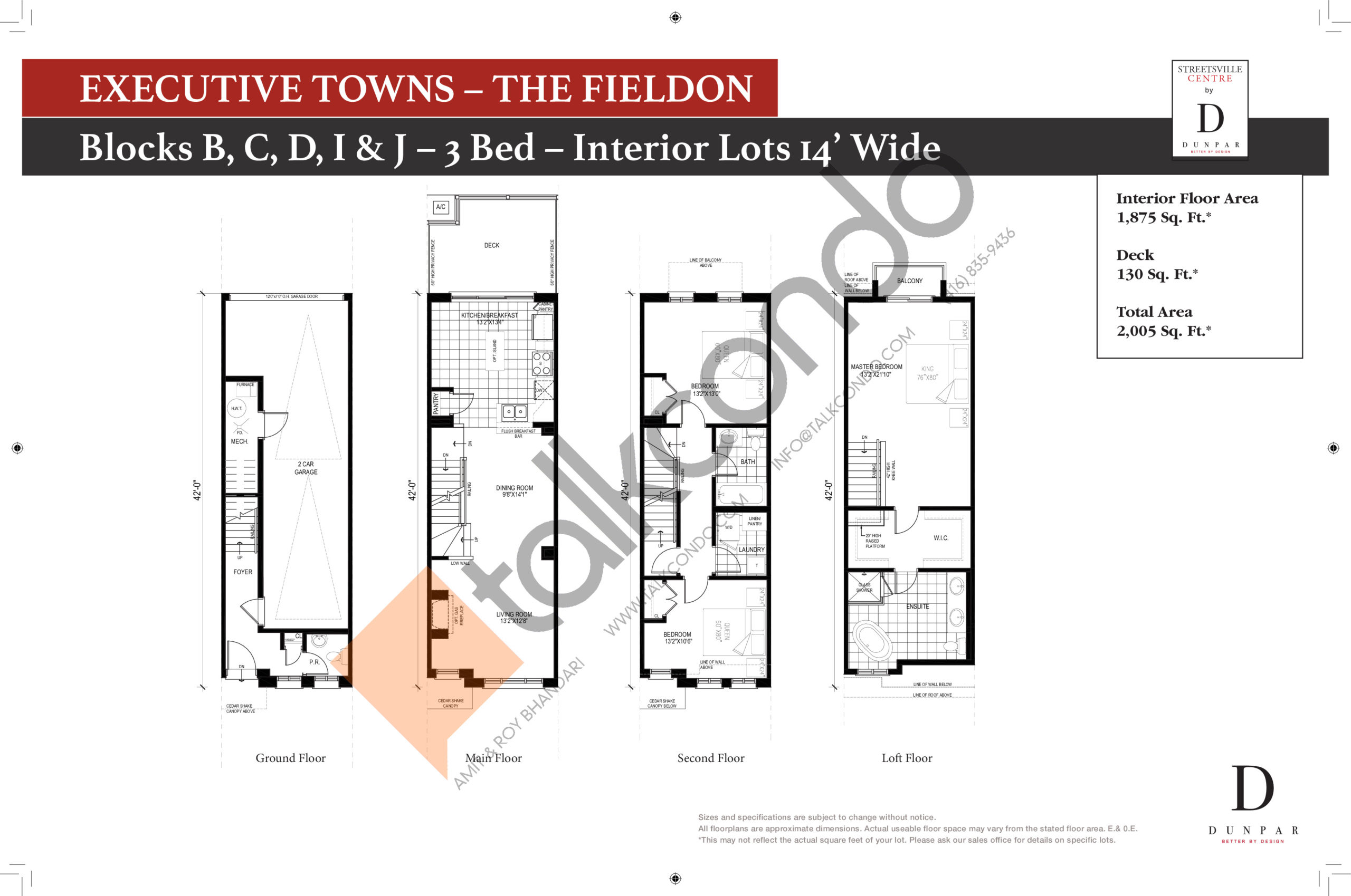 The Fieldon Floor Plan at Streetsville Centre - 1875 sq.ft