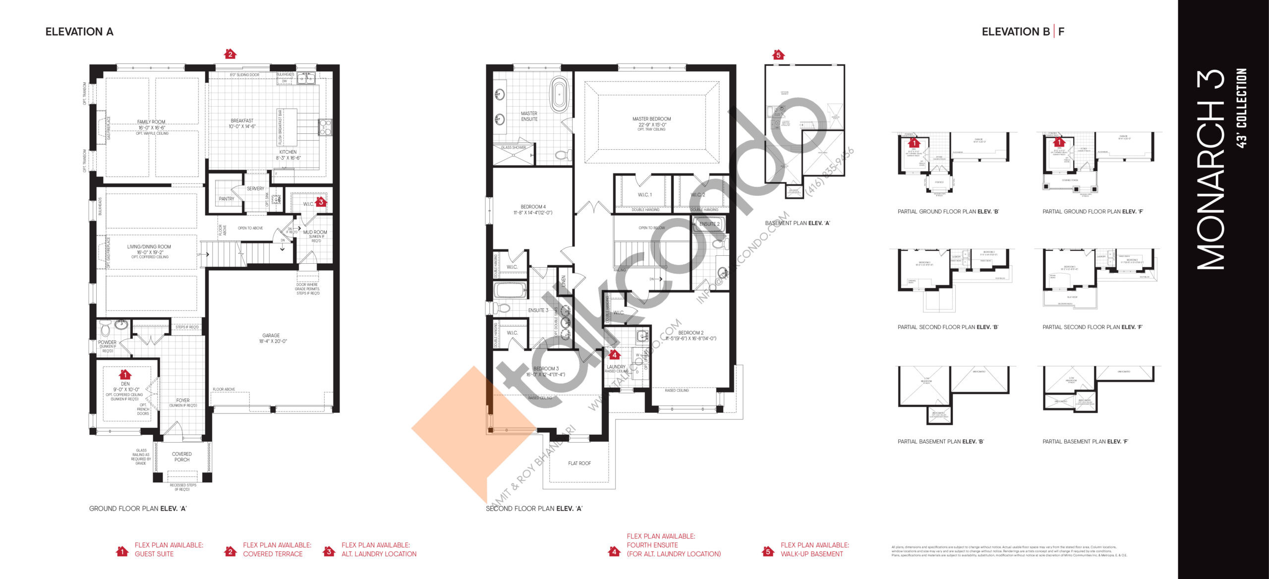 Monarch 3 - 43' Collection Floor Plan at Union Village - 3470 sq.ft