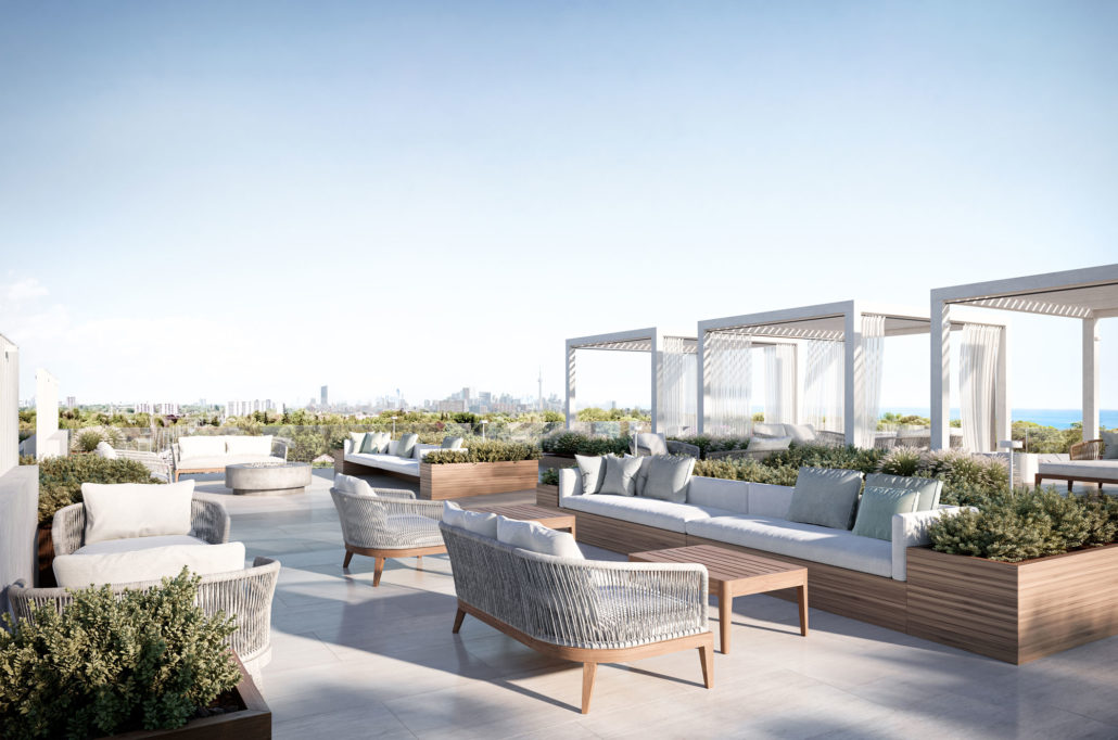 rooftop terrace at westport condos