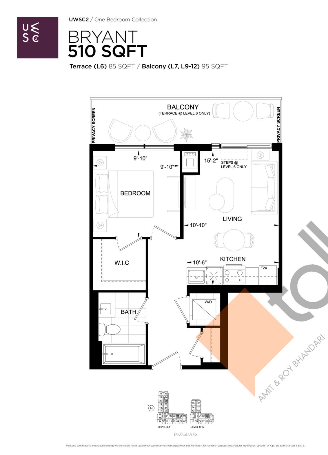 Bryant Floor Plan at Upper West Side Condos 2 - 510 sq.ft