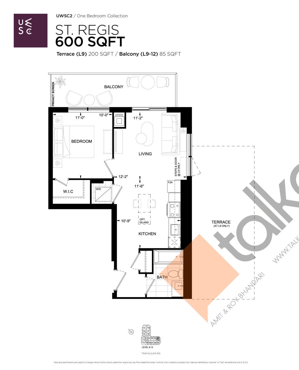 St. Regis Floor Plan at Upper West Side Condos 2 - 600 sq.ft