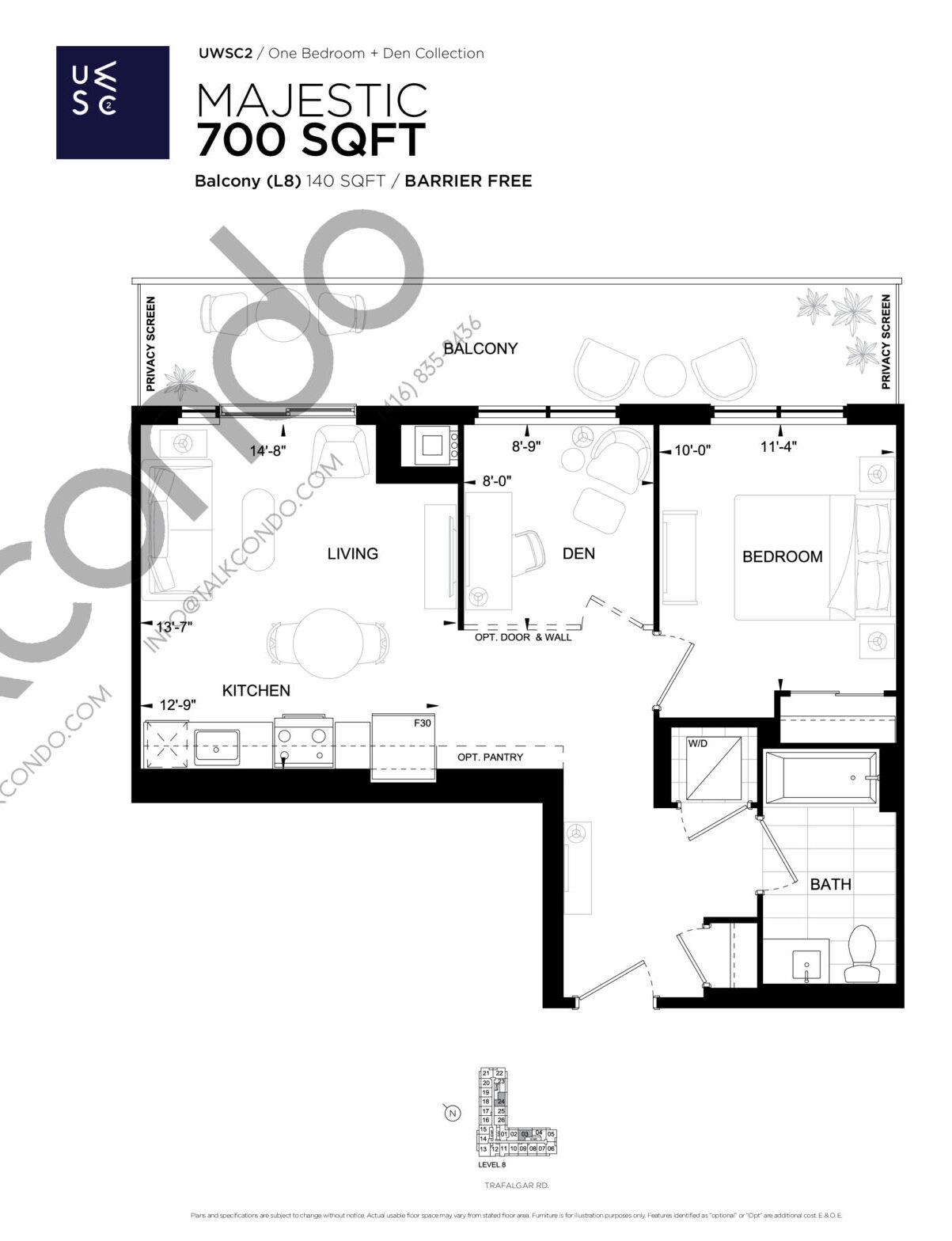 Majestic Floor Plan at Upper West Side Condos 2 - 700 sq.ft