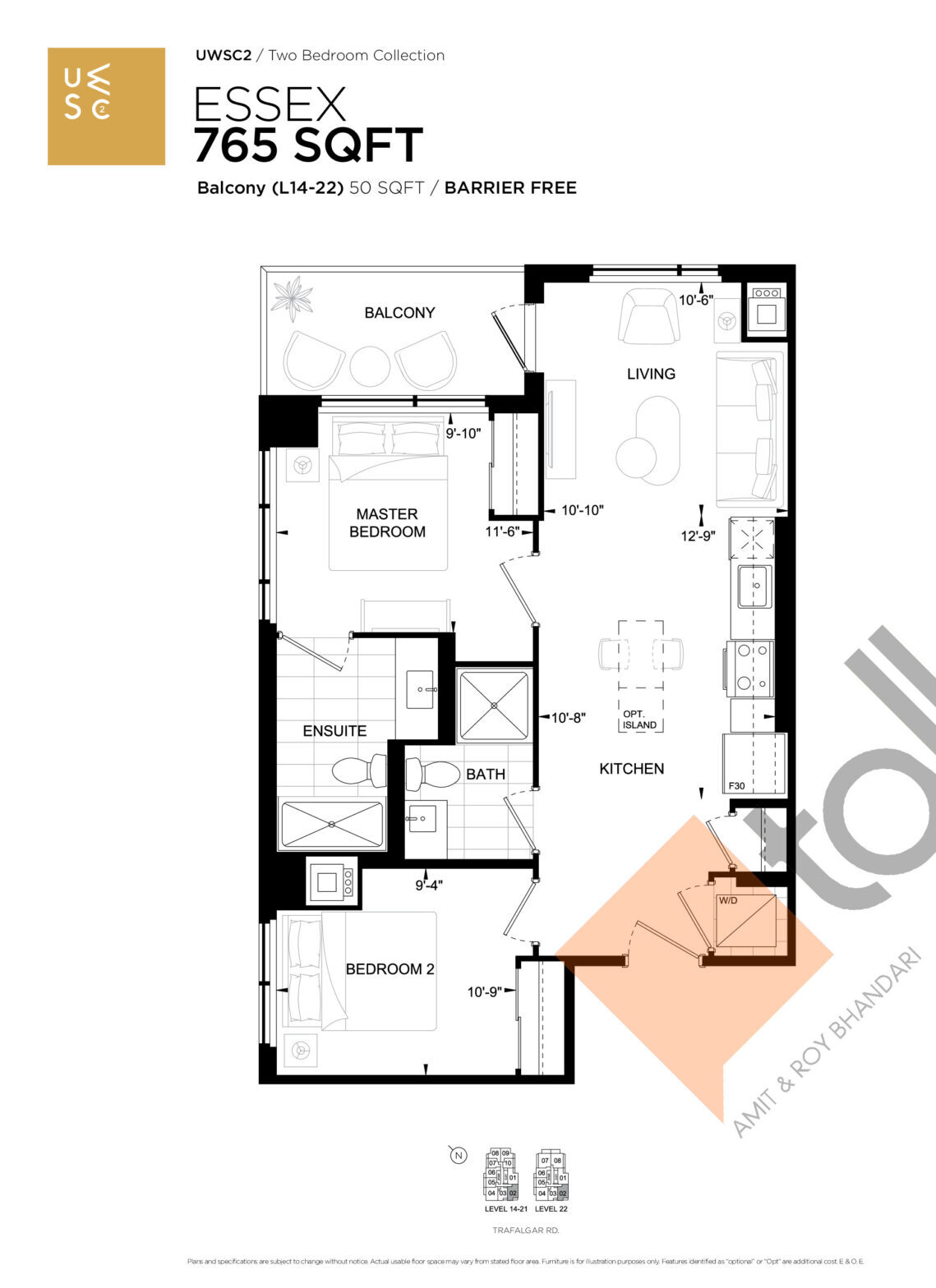 Essex Floor Plan at Upper West Side Condos 2 - 765 sq.ft