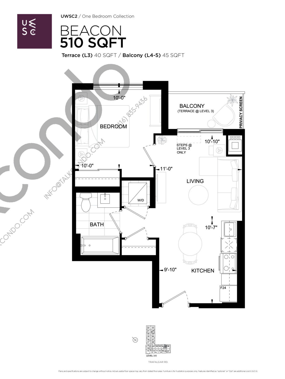 Beacon Floor Plan at Upper West Side Condos 2 - 510 sq.ft