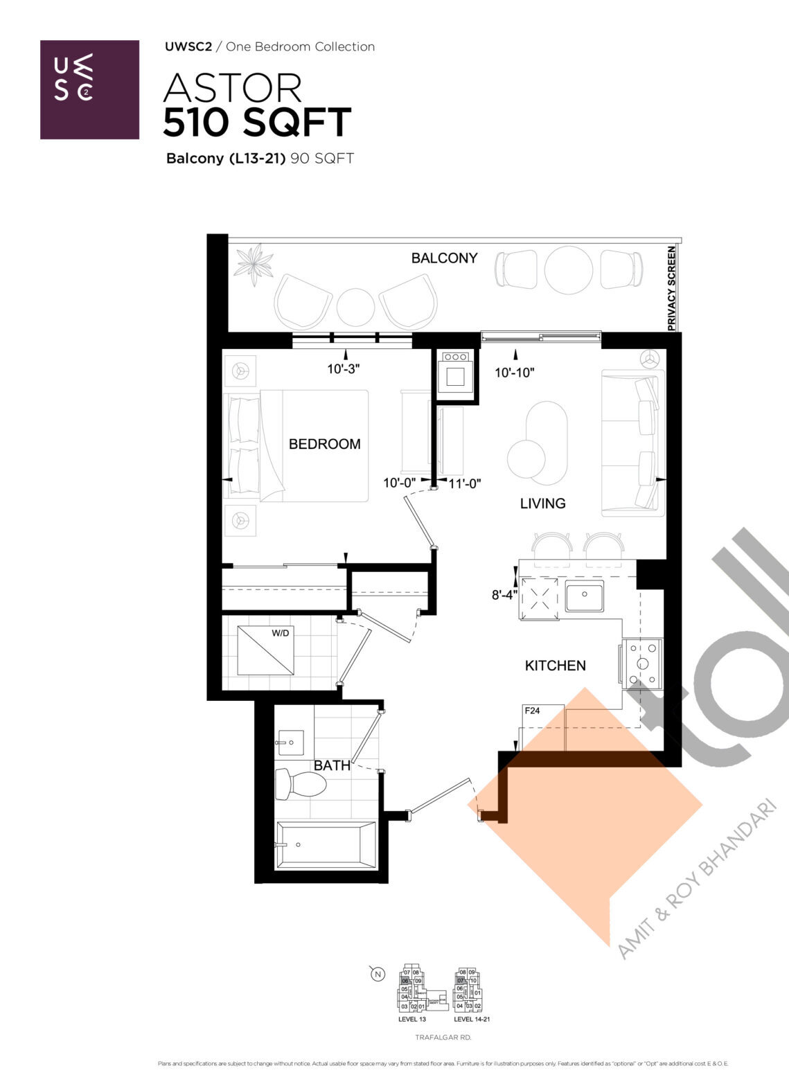 Astor Floor Plan at Upper West Side Condos 2 - 510 sq.ft