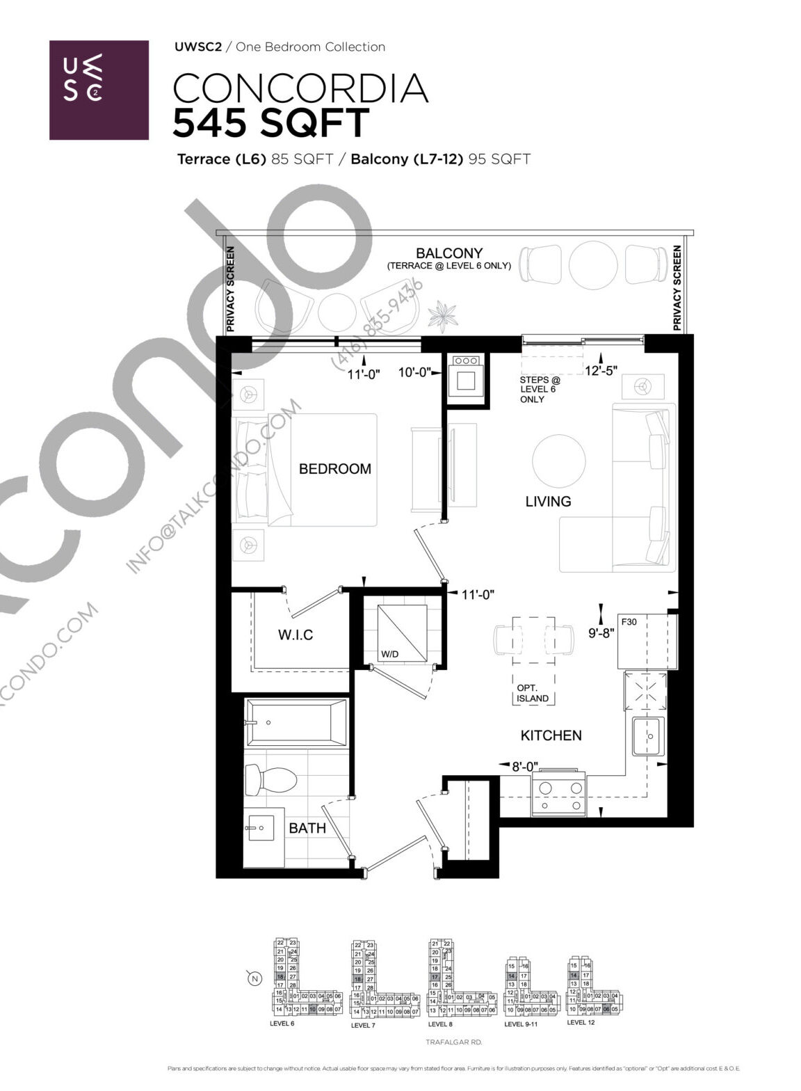 Concordia Floor Plan at Upper West Side Condos 2 - 545 sq.ft