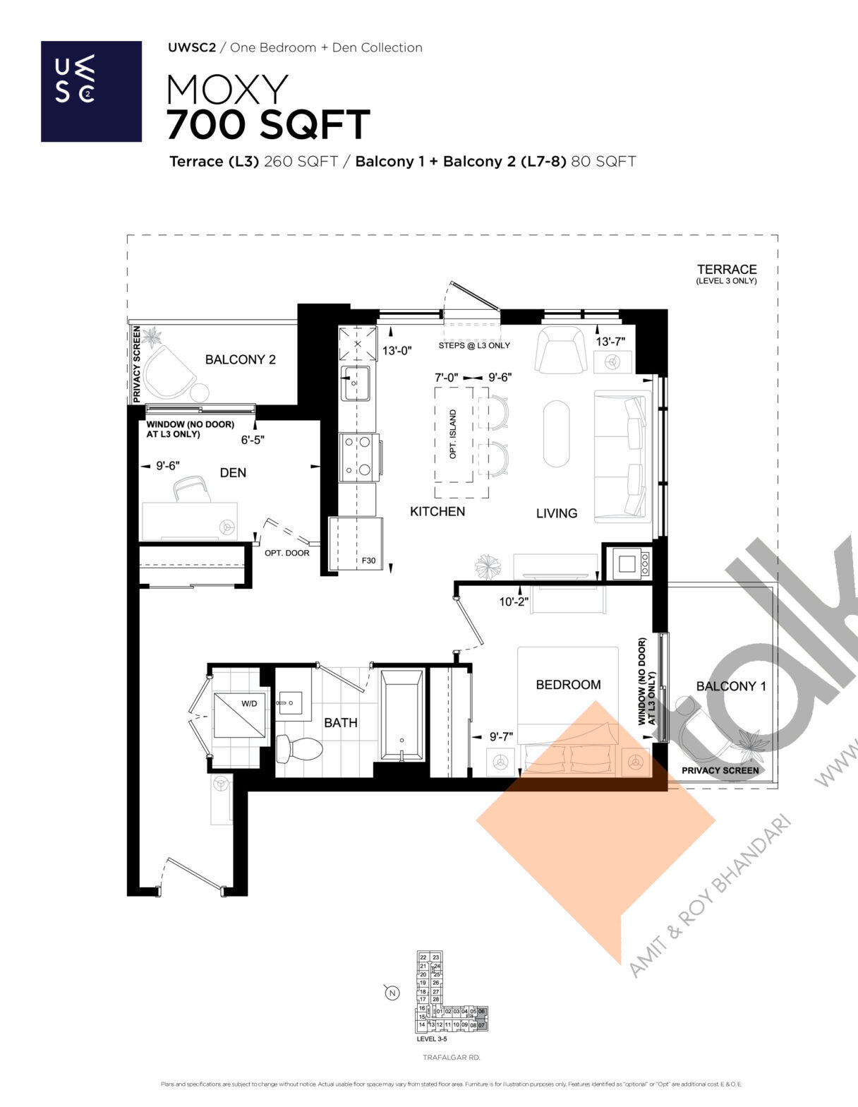 Moxy Floor Plan at Upper West Side Condos 2 - 700 sq.ft