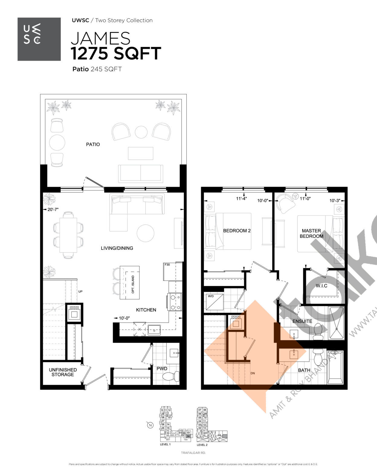James Floor Plan at Upper West Side Condos 2 - 1275 sq.ft