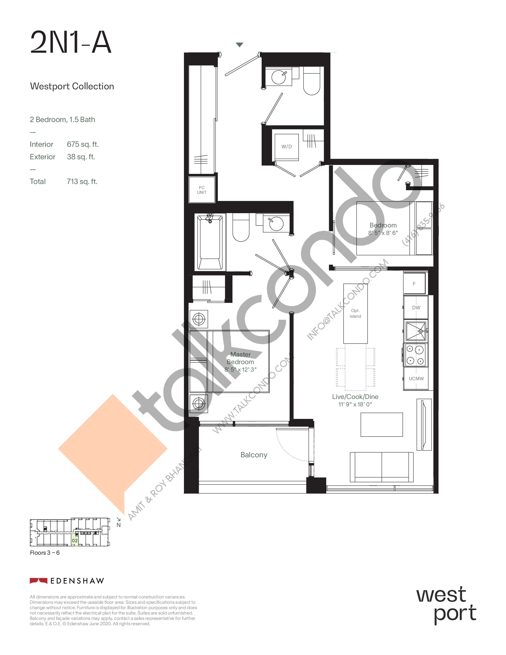 2N1-A - Westport Collection Floor Plan at Westport Condos - 675 sq.ft