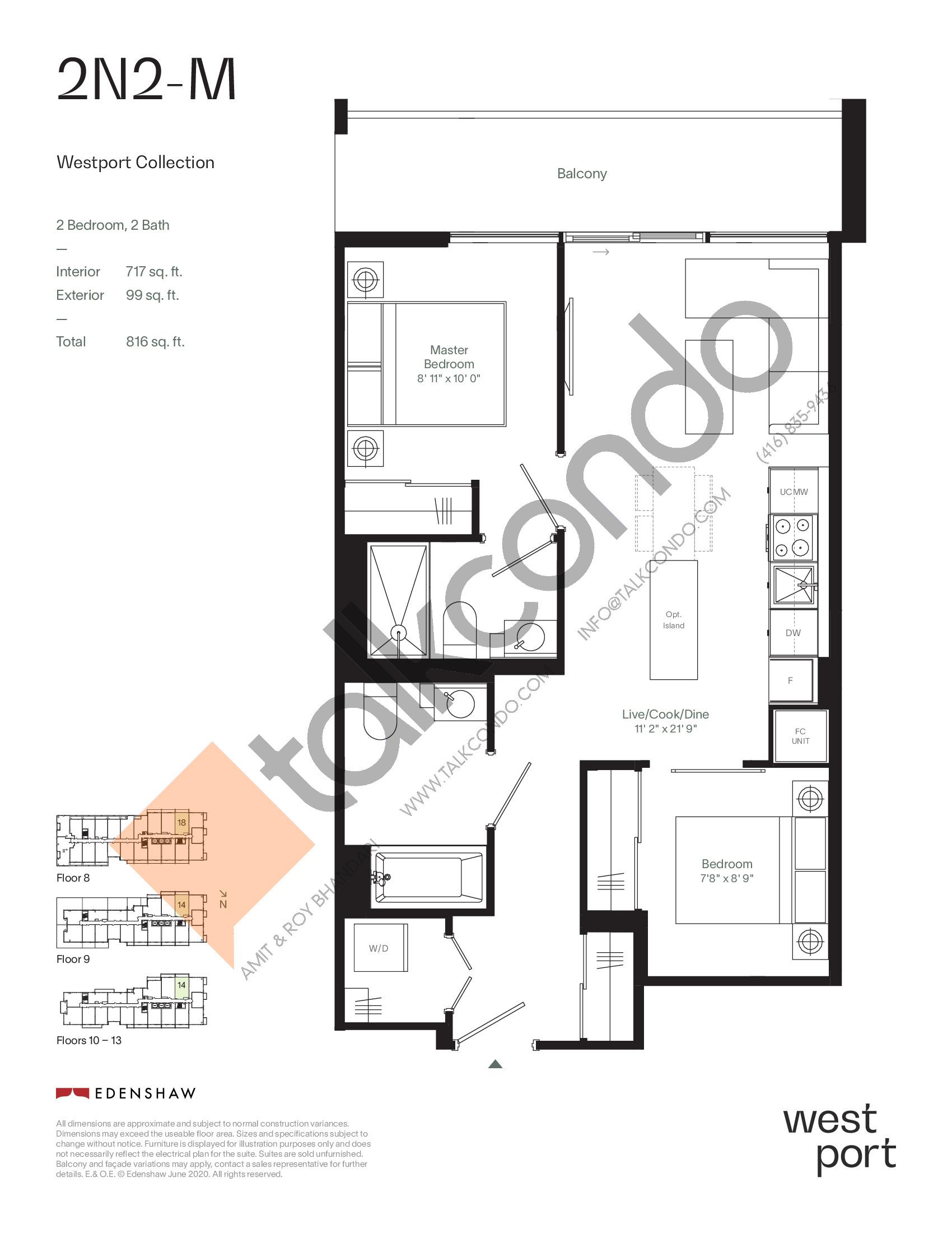 2N2-M - Westport Collection Floor Plan at Westport Condos - 717 sq.ft