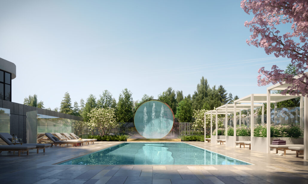 8188 Yonge Condos Outdoor Pool and Patio
