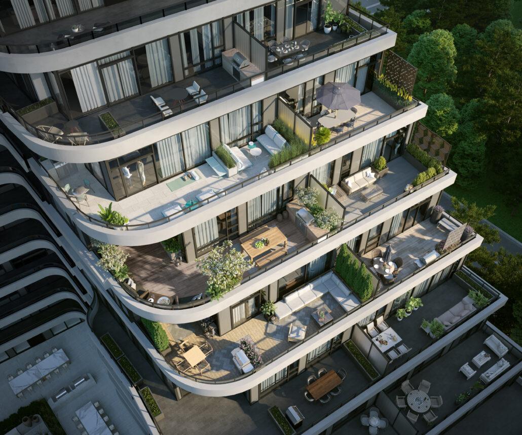 8188 Yonge Condos Tiered Balcony
