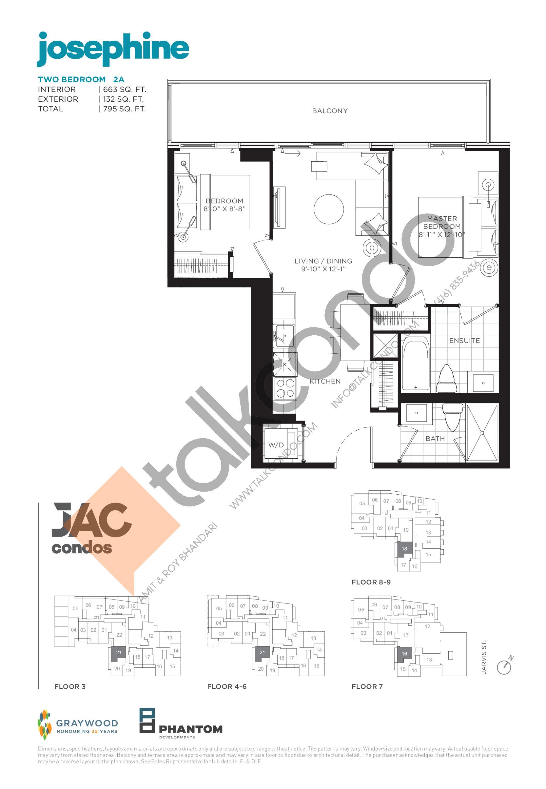 Josephine Floor Plan at JAC Condos - 663 sq.ft