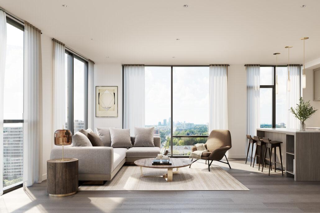 8188 Yonge Interior Suite Living Space