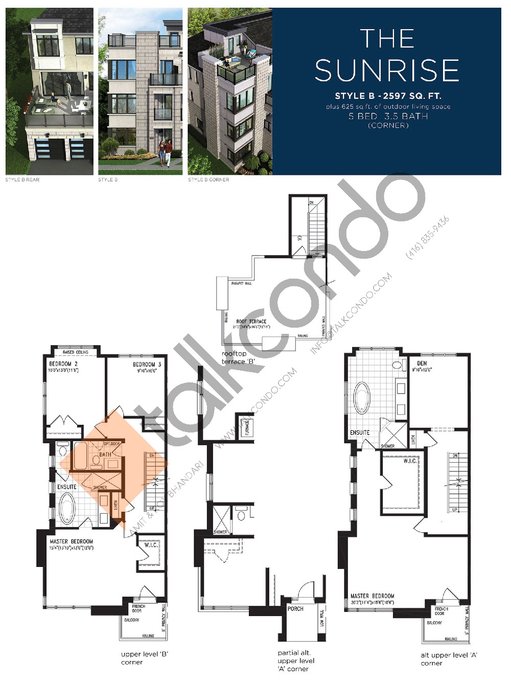 The Sunrise (3/3) Floor Plan at Lake Breeze - 2597 sq.ft