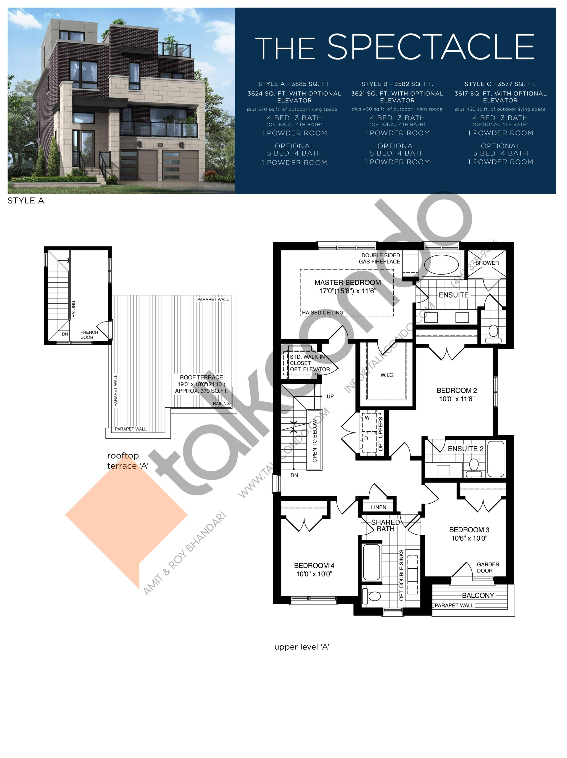 The Spectacle (3/3) Floor Plan at Lake Breeze - 3585 sq.ft