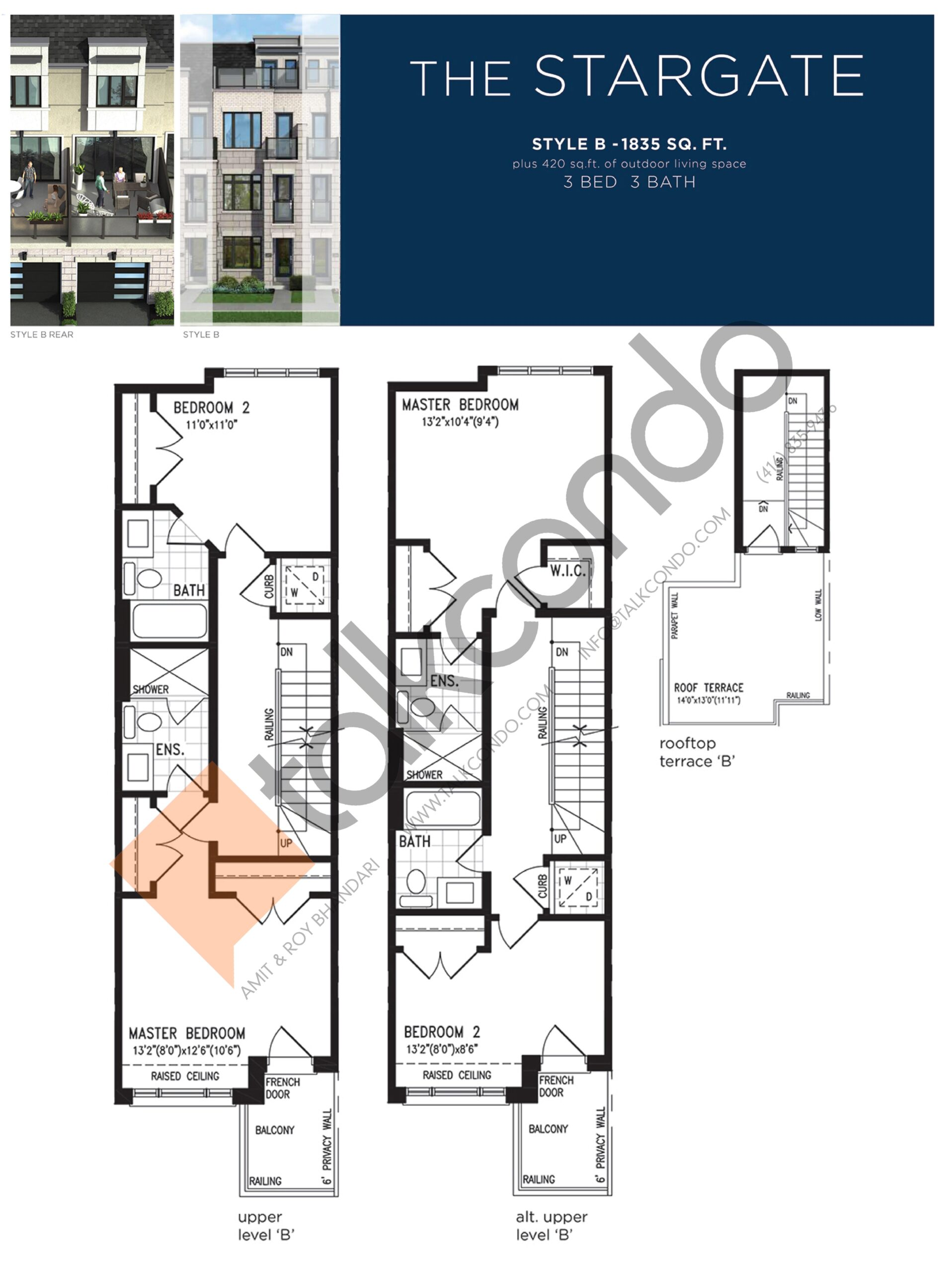 The Stargate (3/3) Floor Plan at Lake Breeze - 1835 sq.ft