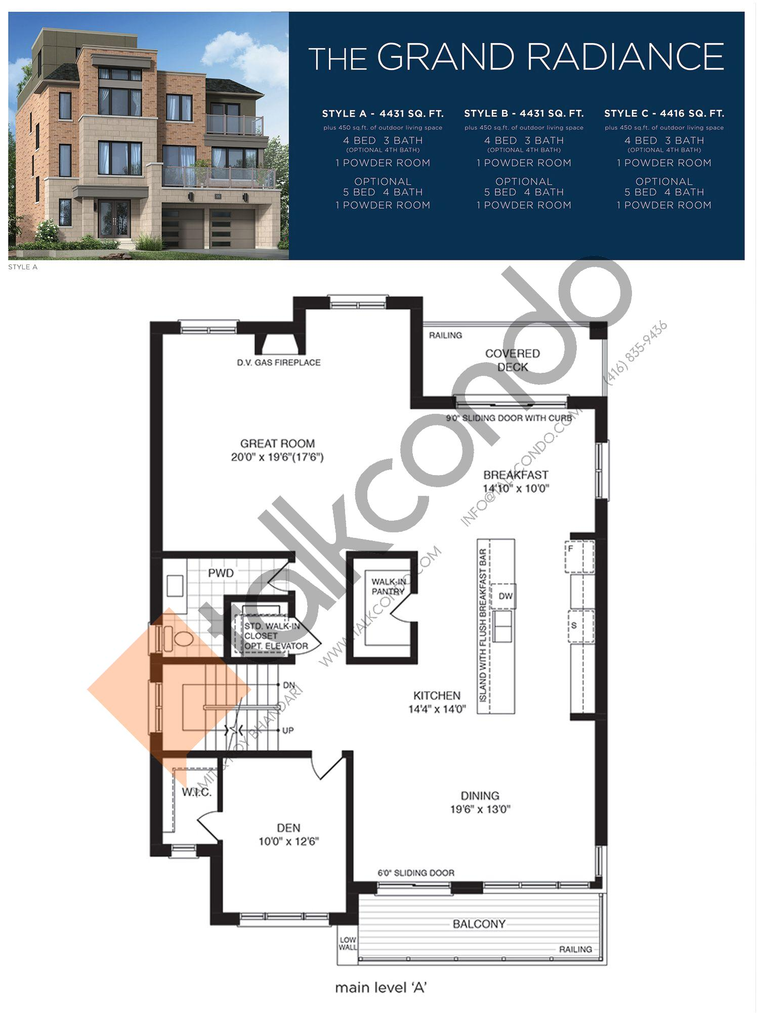 The Grand Radiance (2/3) Floor Plan at Lake Breeze - 4431 sq.ft