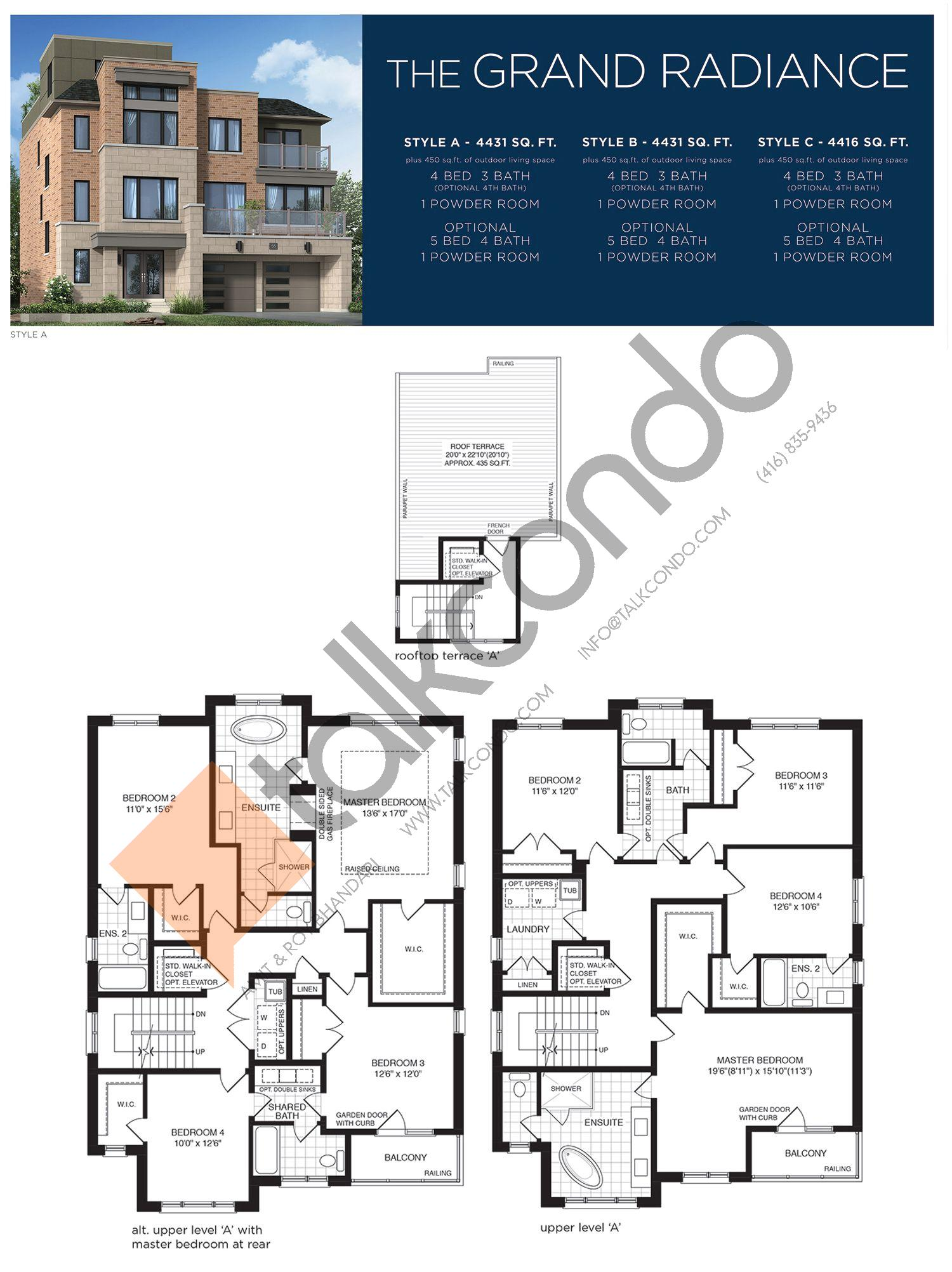 The Grand Radiance (3/3) Floor Plan at Lake Breeze - 4431 sq.ft