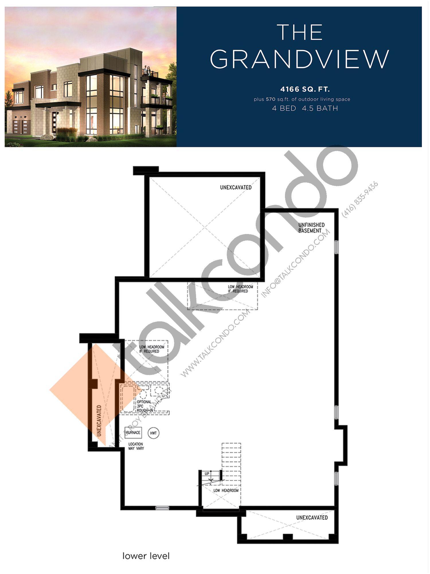 The Grandview (1/3) Floor Plan at Lake Breeze - 4166 sq.ft