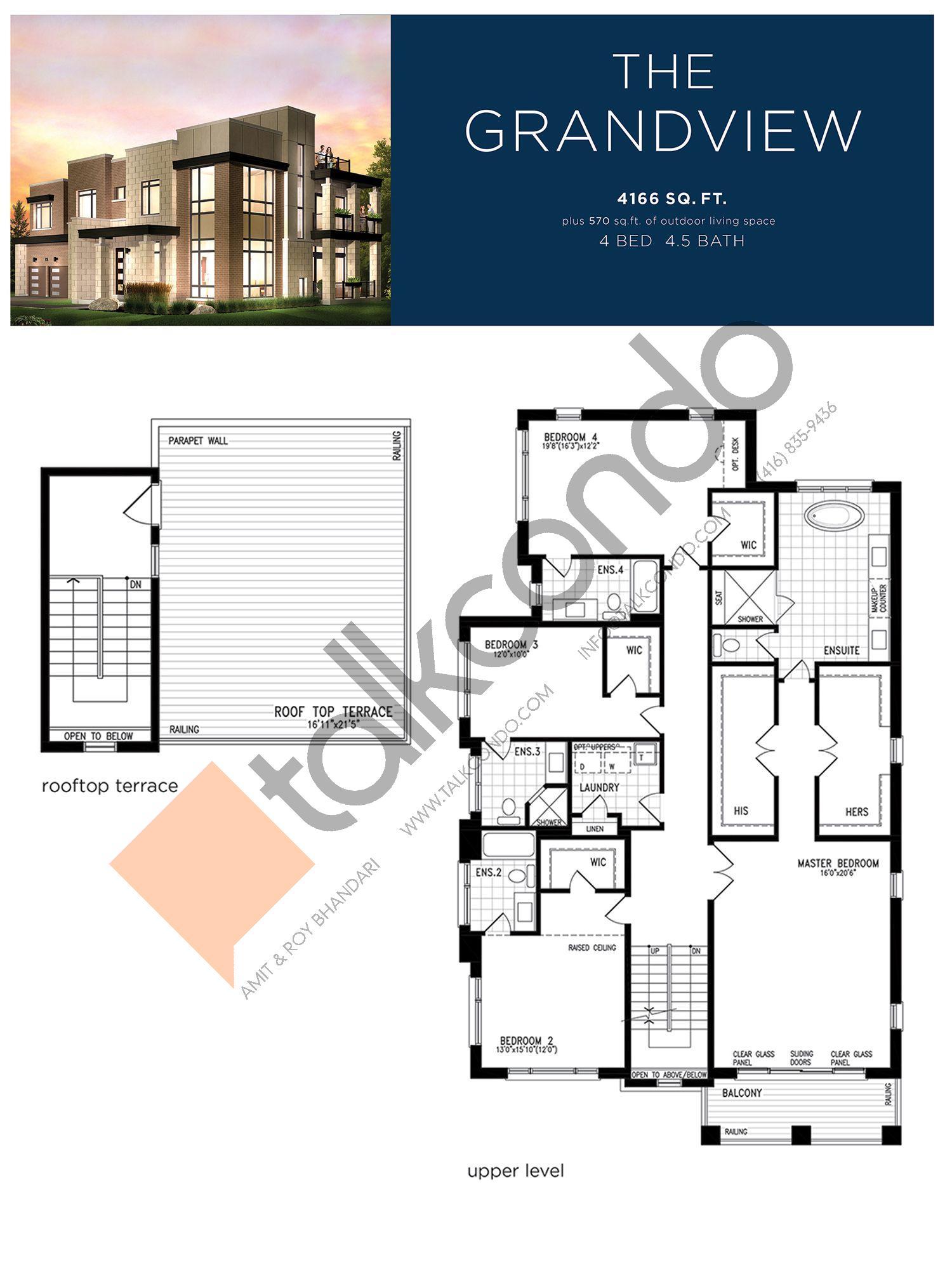 The Grandview (3/3) Floor Plan at Lake Breeze - 4166 sq.ft