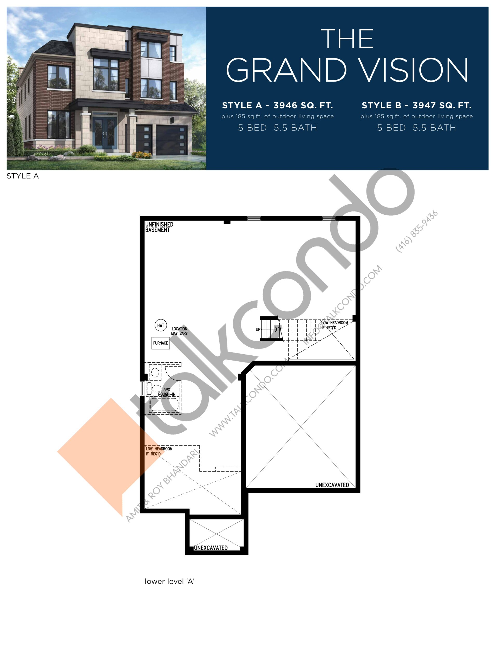 The Grand Vision (1/3) Floor Plan at Lake Breeze - 3947 sq.ft